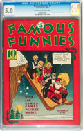Platinum Age (1897-1937):Miscellaneous, Famous Funnies #5 (Eastern Color, 1934) CGC VG/FN 5.0 Light tan tooff-white pages....