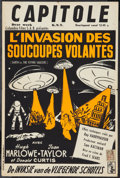 "Movie Posters:Science Fiction, Earth vs. the Flying Saucers (Columbia, 1956). Belgian (14.25"" X21.25""). Science Fiction.. ..."