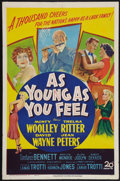 "Movie Posters:Comedy, As Young As You Feel (20th Century Fox, 1951). One Sheet (27"" X41""). Comedy.. ..."