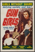 "Movie Posters:Bad Girl, Gun Girls (Astor Pictures, 1957). One Sheet (27"" X 41""). Bad Girl....."