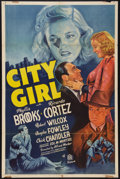 "Movie Posters:Crime, City Girl (20th Century Fox, 1938). One Sheet (27"" X 41""). Crime....."