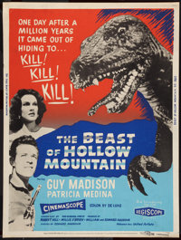 "The Beast of Hollow Mountain (United Artists, 1956). Poster (30"" X 40""). Science Fiction"