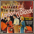 "Movie Posters:Drama, Anybody's Blonde (Action, 1931). Six Sheet (81"" X 81"") Flat Folded. Drama.. ..."
