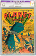 Golden Age (1938-1955):Science Fiction, Planet Comics #9 (Fiction House, 1940) CGC Apparent VF 8.0 Slight(P) Off-white pages....