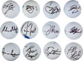 Golf Collectibles:Autographs, Golfing Greats Signed Golf Balls Lot of 12....