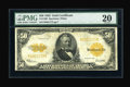 Large Size:Gold Certificates, Fr. 1200 $50 1922 Gold Certificate PMG Very Fine 20....