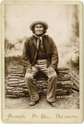 Photography:Cabinet Photos, ADDISON CABINET OF GERONIMO: SCARCE AND IMMACULATE. This rarely seen image of Geronimo was taken during his imprisonment at ... (Total: 1 Item)