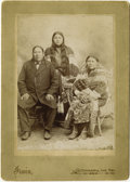 "Photography:Cabinet Photos, IRWIN CABINET OF WATERMAN AND FAMILY. Attractive portrait of anIndian family, identified as ""Waterman & family Kiowa India...(Total: 1 Item)"