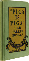 Books:Signed Editions, Ellis Parker Butler: Inscribed & Signed 1906 Edition of Pigs Is Pigs. (New York: A. L. Burt Company, 1906), 37 pages, gr... (Total: 1 Item)