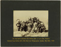 """Photography:Official Photos, """"THE ONLY NORTH AMERICAN RED INDIANS EVER AT LANDS END, ENGLAND"""".Immaculate photo of a group of Indians from Buffalo Bill'...(Total: 1 Item)"""
