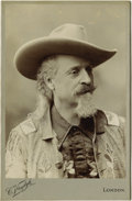 Photography:Studio Portraits, EXCEPTIONALLY DETAILED BUST IMAGE OF WILLIAM F. CODY. London photographer C. Vandyk captures Buffalo Bill's countenance in a... (Total: 1 Item)