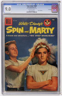 Four Color #808 Spin and Marty - File Copy (Dell, 1957) CGC VF/NM 9.0 Off-white pages
