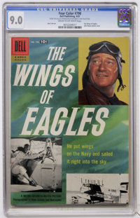 Four Color #790 The Wings of Eagles (Dell, 1957) CGC VF/NM 9.0 Cream to off-white pages