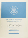 Books:Signed Editions, Richard Nixon: Signed Copy of His 1973 Inaugural Address.(Washington D.C.: U.S. Government Printing Office, January,1973),... (Total: 1 Item)