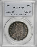 Bust Half Dollars: , 1822 50C VF20 PCGS. PCGS Population (6/447). NGC Census: (3/439).Mintage: 1,559,573. Numismedia Wsl. Price for NGC/PCGS co...