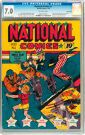 Golden Age (1938-1955):Superhero, National Comics #1 Billy Wright pedigree (Quality, 1940) CGC FN/VF 7.0 Off-white pages....