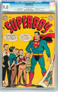 Golden Age (1938-1955):Superhero, Superboy #1 (DC, 1949) CGC VF/NM 9.0 Off-white to white pages....