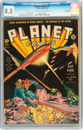 Golden Age (1938-1955):Superhero, Planet Comics #3 Billy Wright pedigree (Fiction House, 1940) CGC VF+ 8.5 Off-white to white pages....
