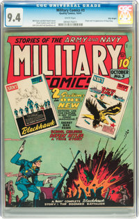 Military Comics #3 Billy Wright pedigree (Quality, 1941) CGC NM 9.4 White pages
