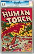 Golden Age (1938-1955):Superhero, The Human Torch #10 Billy Wright pedigree (Timely, 1942) CGC VF+ 8.5 Off-white pages....