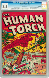 The Human Torch #10 Billy Wright pedigree (Timely, 1942) CGC VF+ 8.5 Off-white pages