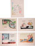 Art:Illustration Art - Mainstream, Garth Williams. Nine Original Watercolor Paintings Prepared forBaby's First Book, 1955. Nine sheets measuring 1... (Total:9 Items)
