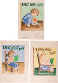 Books:Children's Books, Garth Williams. Three Original Watercolor Paintings for UnusedCover Art for Baby's First Book, 1955. Three shee... (Total:3 Items)