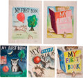 Art:Illustration Art - Mainstream, Garth Williams. Five Original Watercolor Paintings for Unused CoverArt for Baby's First Book, 1955. Five sheets... (Total: 5Items)