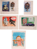 Art:Illustration Art - Mainstream, Garth Williams. Six Original Watercolor Paintings Prepared forBaby's First Book, 1955. Six sheets, four measuri... (Total:5 Items)
