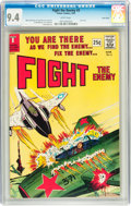 Silver Age (1956-1969):War, Fight The Enemy #3 Twin Cities pedigree (Tower, 1967) CGC NM 9.4 White pages....