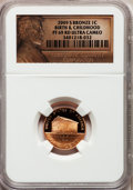 Proof Lincoln Cents, 2009-S 1C Bronze Birth & Childhood PR69 Red Ultra Cameo NGC. NGC Census: (11724/1875). PCGS Population (3958/310). Numisme...