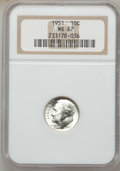 Roosevelt Dimes: , 1951 10C MS67 NGC. NGC Census: (327/0). PCGS Population (111/1).Mintage: 103,800,000. Numismedia Wsl. Price for problem fr...