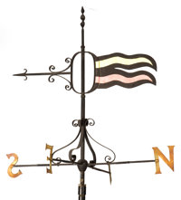 AN AMERICAN METAL WEATHERVANE 20th Century 156 x 44 x 44 inches (396.2 x 111.8 x 111.8 cm)  FROM THE EST