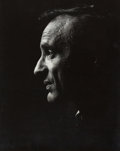 Photography , PHILIPPE HALSMAN (American, 1906-1979). Eli Wiesel, 1969. Gelatin silver, printed later. 13-1/2 x 10-3/4 inches (34.3 x ...
