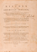 Books:Americana & American History, James Adair. The History of the American Indians;Particularly Those Nations adjoining to the Mississippi, Eastan...