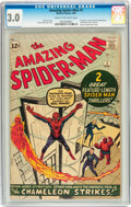 Silver Age (1956-1969):Superhero, The Amazing Spider-Man #1 (Marvel, 1963) CGC GD/VG 3.0 Cream tooff-white pages....