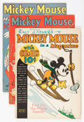 Platinum Age (1897-1937):Miscellaneous, Mickey Mouse Magazine V2#4, V3#4, and V3#7 Group (K. K.Publications/ Western Publishing Co., 1937-38).... (Total: 3 ComicBooks)