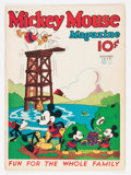 Platinum Age (1897-1937):Miscellaneous, Mickey Mouse Magazine #12 (K. K. Publications/ Western PublishingCo., 1936) Condition: FN-....