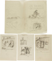 Garth Williams. Fifteen Rough Sketches for Illustrations in Laura Ingalls Wilder's On the Banks of Plum Creek</...