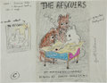 "Art:Illustration Art - Mainstream, Garth Williams. Original Crayon and Ink Drawing ""C"" for PreliminaryJacket Design for The Rescuers by Margery ..."