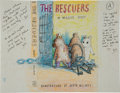"Art:Illustration Art - Mainstream, Garth Williams. Original Crayon and Ink Drawing ""A"" for UnusedJacket Design for The Rescuers by Margery Sharp..."