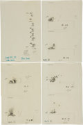 Art:Illustration Art - Mainstream, Garth Williams. Ten Sheets of Original Spot Illustrations for LauraIngalls Wilder's On the Banks of Plum Creek, 1... (Total: 3Items)