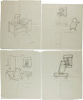 Art:Illustration Art - Mainstream, Garth Williams. Preliminary Drawings for Illustrations inBedtime for Frances by Russell Hoban, 1960. Pencil...(Total: 4 Items)