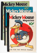 Platinum Age (1897-1937):Miscellaneous, Mickey Mouse Magazine Group (K. K. Publications/ Western PublishingCo., 1936-37) Condition: Average Apparent GD-.... (Total: 6 ComicBooks)