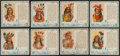 Non-Sport Cards:Sets, 1954 Red Man American Indian Chiefs Near Set (37/40). ...