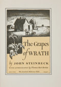 Books:Literature 1900-up, [Thomas Hart Benton, illustrator]. John Steinbeck. The Grapes ofWrath. New York: The Limited Editions Club, 1940. ... (Total: 2Items)