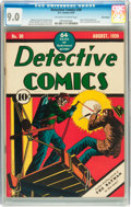 Golden Age (1938-1955):Superhero, Detective Comics #30 Billy Wright pedigree (DC, 1939) CGC VF/NM 9.0 Off-white to white pages....