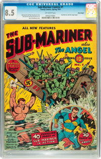 Sub-Mariner Comics #1 Billy Wright pedigree (Timely, 1941) CGC VF+ 8.5 Off-white pages