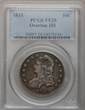 Bust Half Dollars: , 1833 50C VF25 PCGS. O-101. PCGS Population (20/1354). NGC Census:(6/1205). Mintage: 5,206,000. Numismedia Wsl. Price for p...