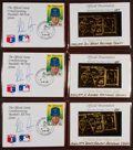Autographs:Sports Cards, Signed 1989 Nolan Ryan Cachets Representing Strikeout Number 884,885 and 888 (3). ...